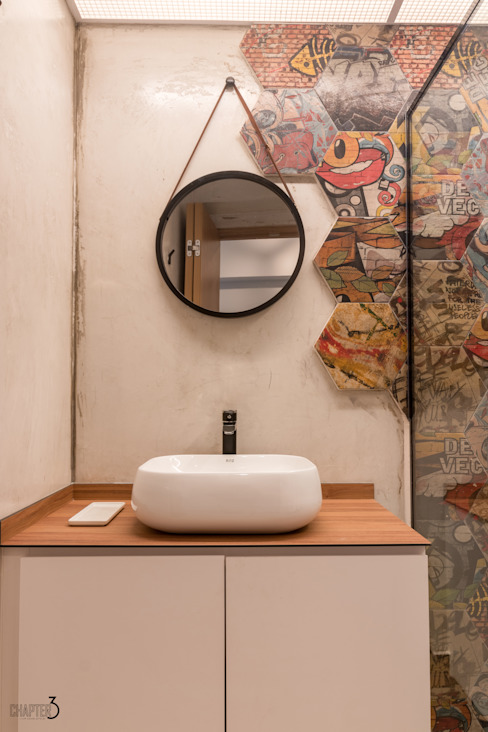 Bathroom Vanity Mirrors and wall features Eclectic style bathroom by Chapter 3 Interior Design Eclectic