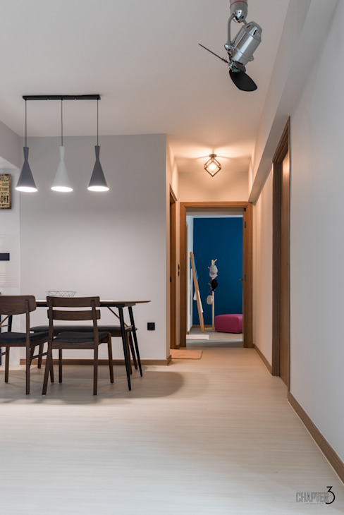 Dining View Eclectic style corridor, hallway & stairs by Chapter 3 Interior Design Eclectic