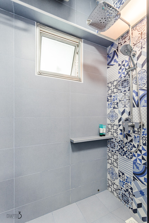 "Project 5i Resale Hdb ""Bright & Bluish Scandi"" Minimalist style bathroom by Chapter 3 Interior Design Minimalist"