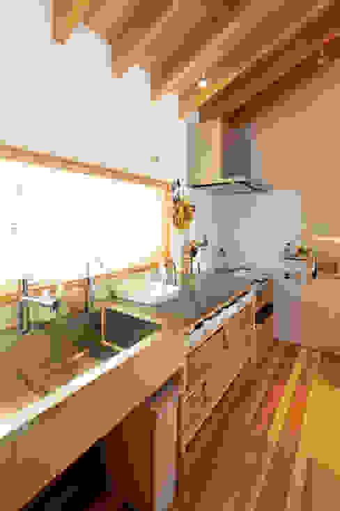 はらぱ2(住宅)キッチン おかやま設計室 キッチン収納 木 白色