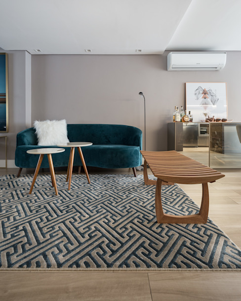 Bibiana Menegaz - Arquitetura de Atmosfera Salones de estilo moderno