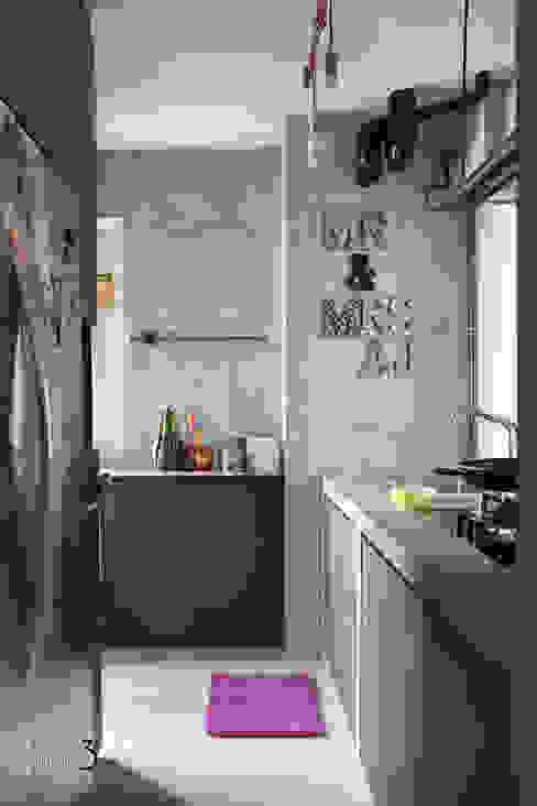 "Project 4Room BTO Dawson ""Urban Industrial"" Chapter 3 Interior Design Small kitchens"