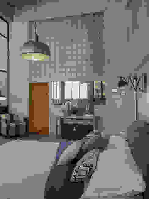 zona de dormir Dormitorios de estilo industrial de David Rius Serra Industrial