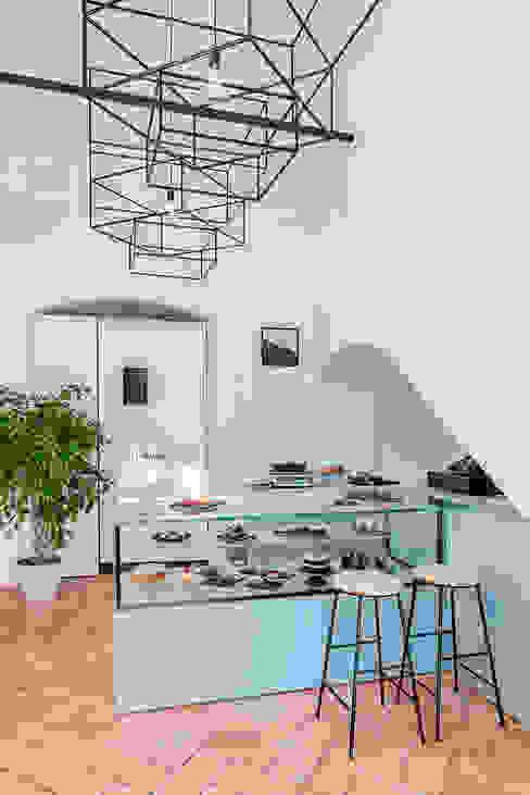 manuarino architettura design comunicazione Minimalist offices & stores Wood Turquoise