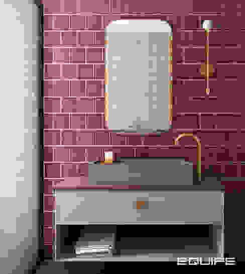 Equipe Ceramicas Industriële badkamers Tegels Rood
