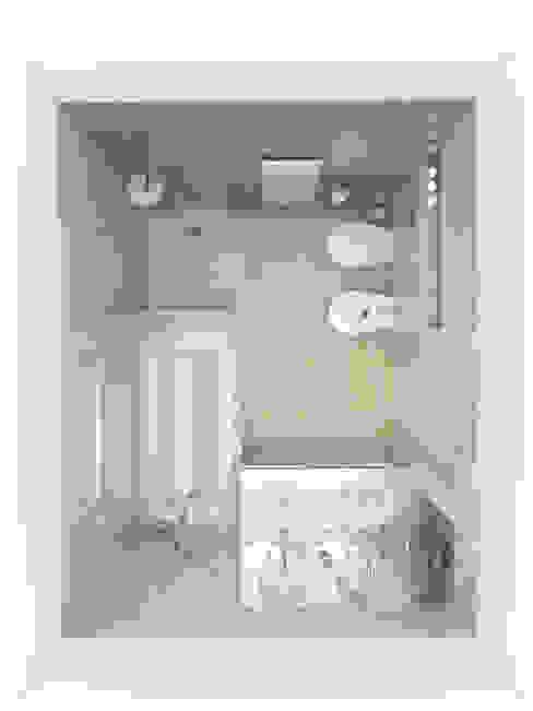 3D Instalação sanitária Mastersuite Casas de banho modernas por The Spacealist - Arquitectura e Interiores Moderno Cerâmica