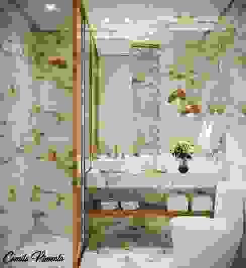Banheiro Banheiros modernos por Camila Pimenta | Arquitetura + Interiores Moderno Mármore