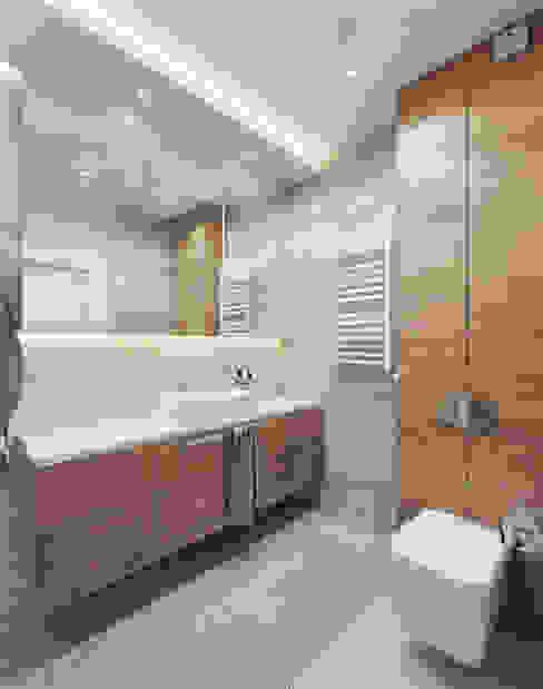 WC Nowoczesna łazienka od Wkwadrat Architekt Wnętrz Toruń Nowoczesny Beton