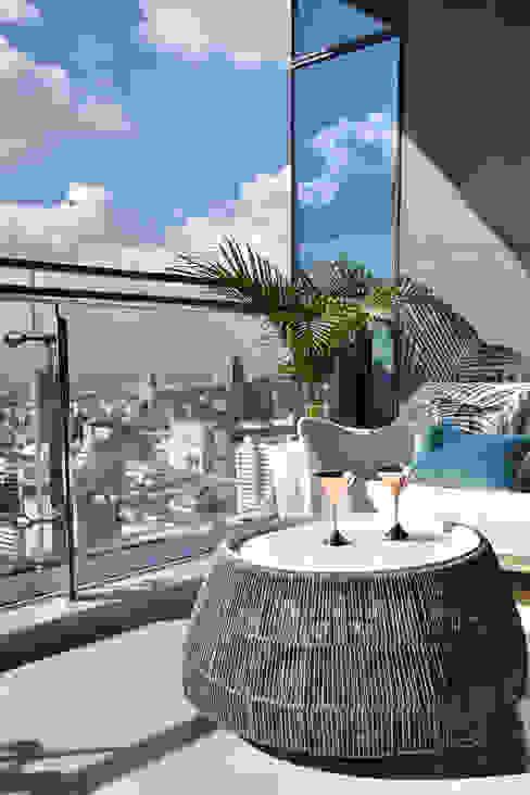 Penthouse Balcony Decor by Design Intervention Modern