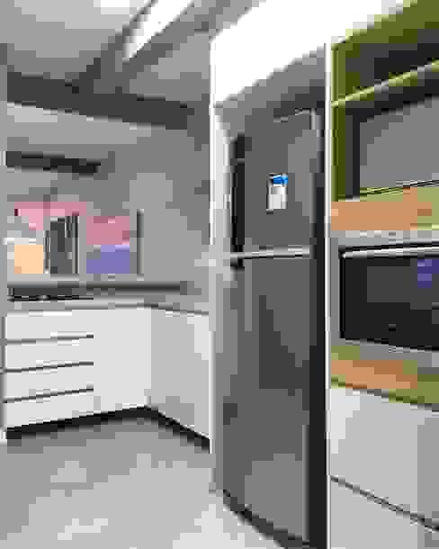 Integração dos Ambientes Cozinhas modernas por Rabisco Arquitetura Moderno MDF