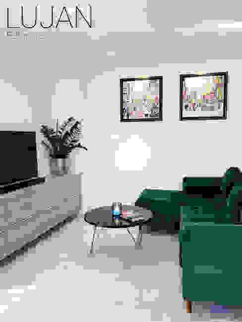REFORMAS LUJAN Minimalist living room Marble Green