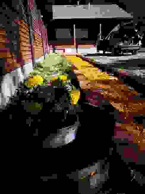 ATELIER3 Jardines en la fachada Amarillo