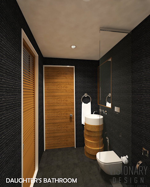 Bathroom VISIONARY DESIGN Modern bathroom Black