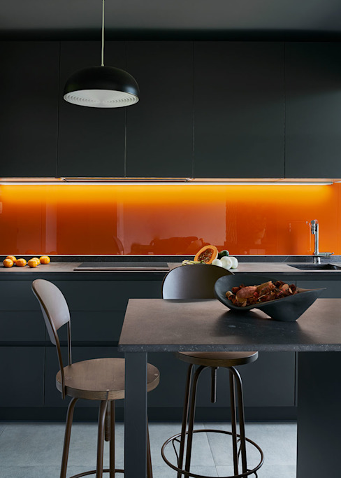 Basoa Decoración Built-in kitchens Orange