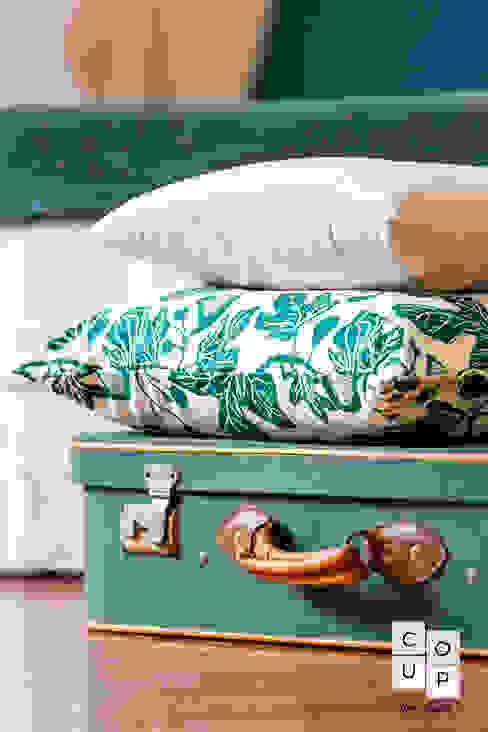 dettaglio Co-Up Home Staging Camera da letto moderna Verde