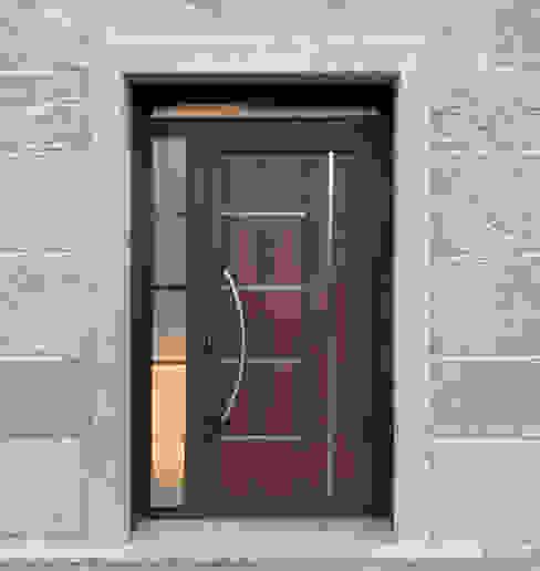 AVANT VALGA Indupanel Puertas principales Aluminio/Cinc Acabado en madera