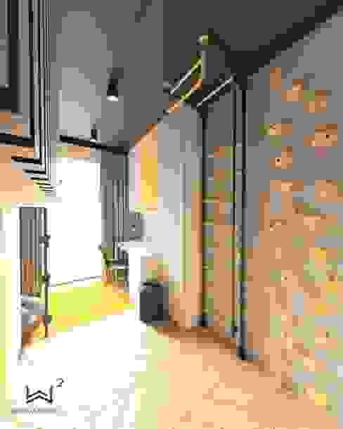 Miejsce do ćwiczeń Wkwadrat Architekt Wnętrz Toruń Pokój dla chłopca Drewno Szary