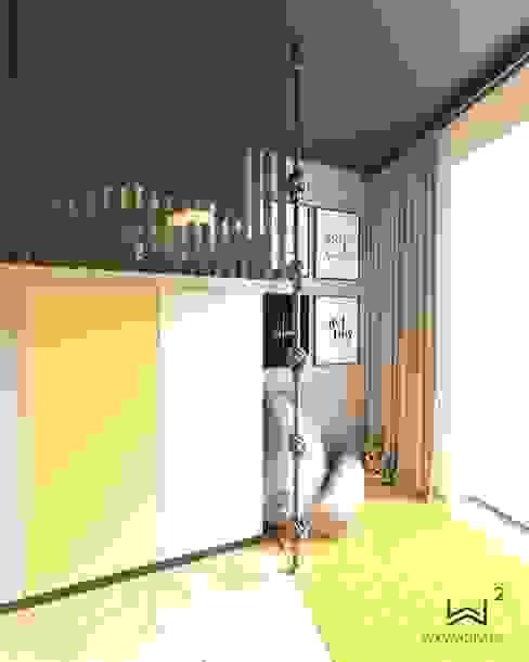 Łóżko od Wkwadrat Architekt Wnętrz Toruń Minimalistyczny Płyta MDF