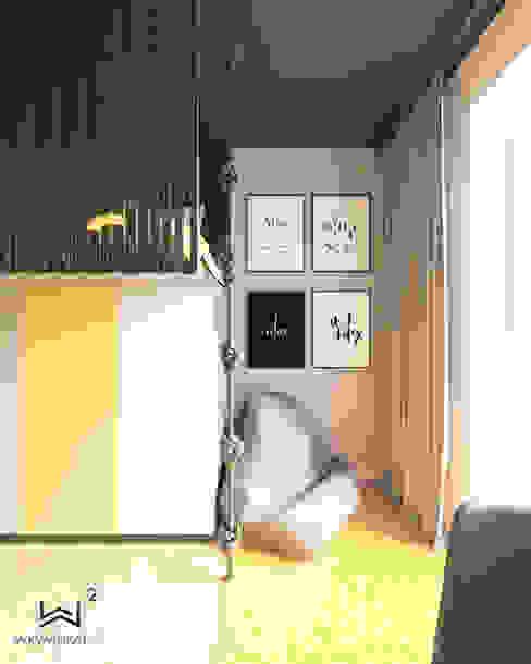 Miejsce do wypoczynku Wkwadrat Architekt Wnętrz Toruń Pokój dla dziwczynki Płyta MDF Żółty