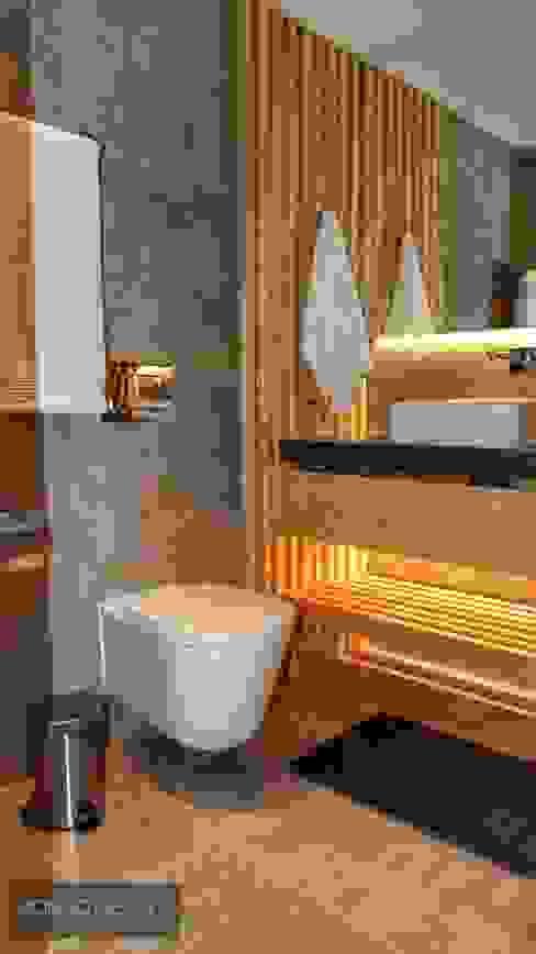 Casa de banho social Casas de banho modernas por Aadna.Design Moderno