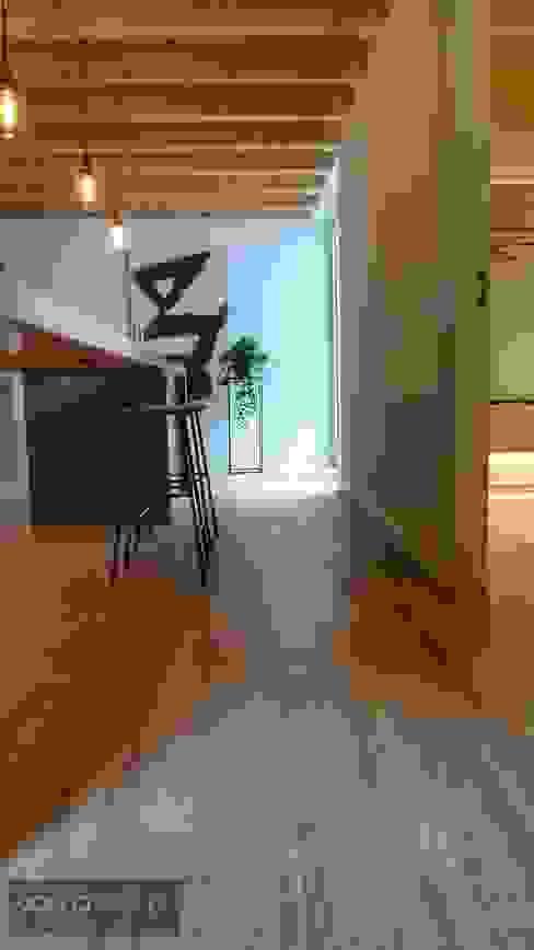 Bancada da cozinha Cozinhas industriais por Aadna.Design Industrial