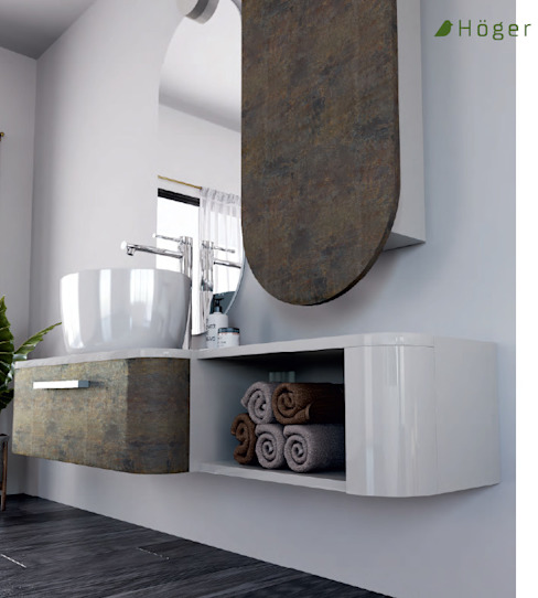Höger stone Hoger Kırsal Banyo Ahşap Beyaz