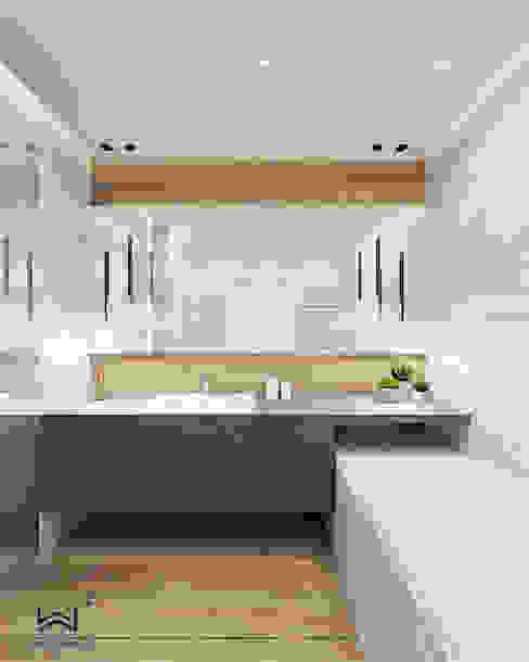 Łazienka Nowoczesna łazienka od Wkwadrat Architekt Wnętrz Toruń Nowoczesny Kamień