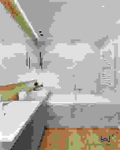 Wanna Nowoczesna łazienka od Wkwadrat Architekt Wnętrz Toruń Nowoczesny Drewno O efekcie drewna