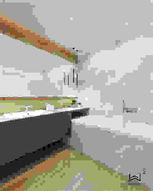 Łazienka gościnna Nowoczesna łazienka od Wkwadrat Architekt Wnętrz Toruń Nowoczesny Płytki