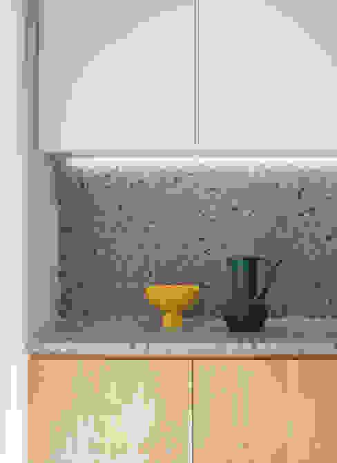 MASU Einbauküche Holzspanplatte Grau