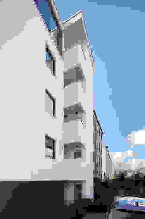 Rückseite des Hauses boehning_zalenga koopX architekten in Berlin Mehrfamilienhaus