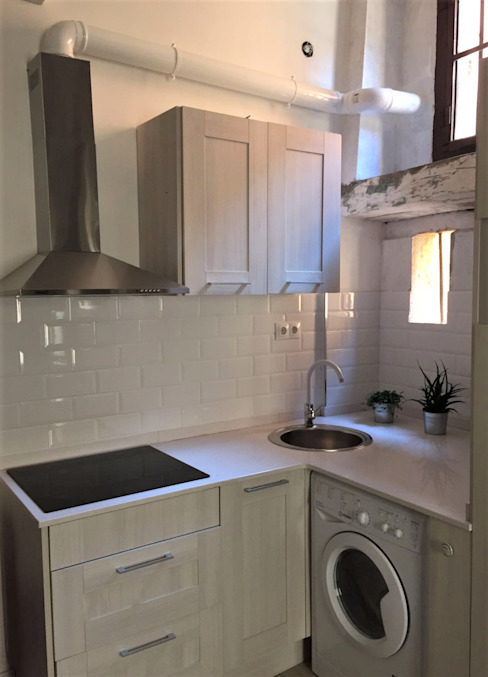 Renova-T Kleine Küche Stein Weiß