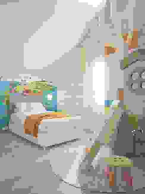 Детская комната младшего сына Студия дизайна интерьера 'Золотое сечение' Спальни для мальчиков Дерево Белый