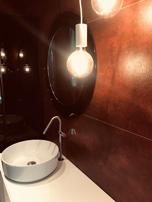 Bagno Architetto Francesca Orefice Bagno moderno Ceramica Rosso