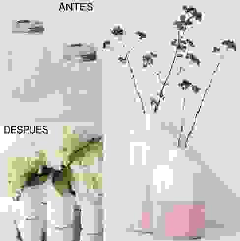 ¿Qué tal un florero decorativo como regalo para mamá? Amante del Bricolaje Salones de estilo clásico Vidrio Multicolor