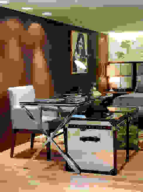 Home office da designer integrado em um loft Escritórios modernos por Adriana Scartaris: Design e Interiores em São Paulo Moderno