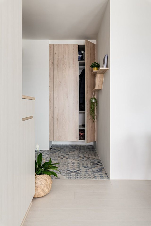 久違彭派 斯堪的納維亞風格的走廊,走廊和樓梯 根據 八寶空間美學| BABODESIGN 北歐風