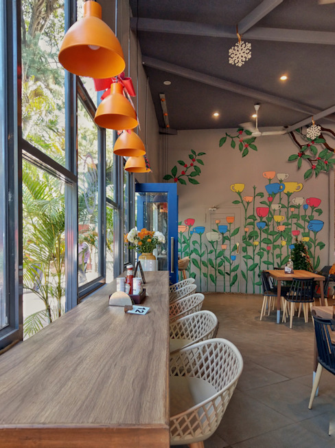 Cafe Architecture +Interiors Modern gastronomy by Line and Dot Studio Modern