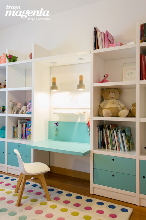 Home Office | Escritório em Casa Traço Magenta - Design de Interiores Escritórios modernos