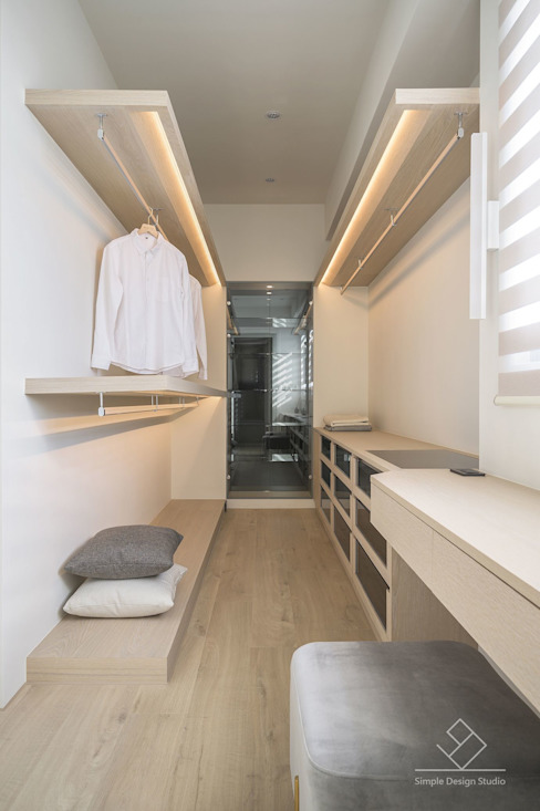 更衣間 極簡室內設計 Simple Design Studio 更衣室
