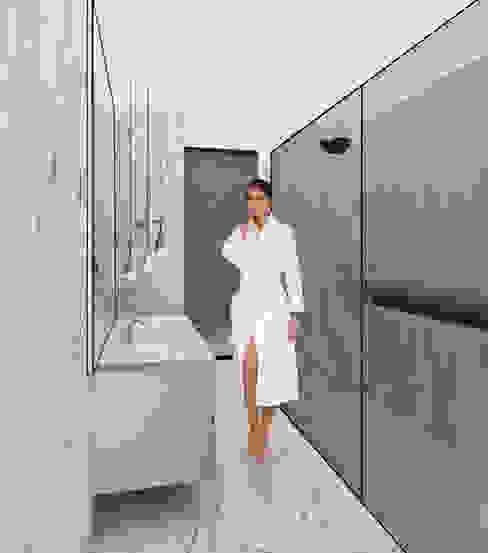 Casa de banho em mármore Calacata Nuno Ladeiro, Arquitetura e Design Casas de banho modernas