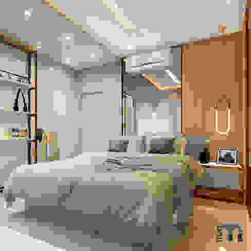 Suíte Quartos modernos por MJR Arquitetura e Engenharia Moderno