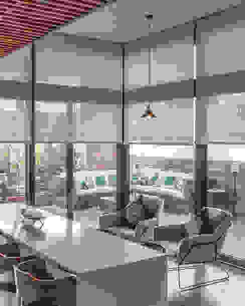 Depto Clericus Livings de estilo minimalista de AlCubo Arquitectos Minimalista