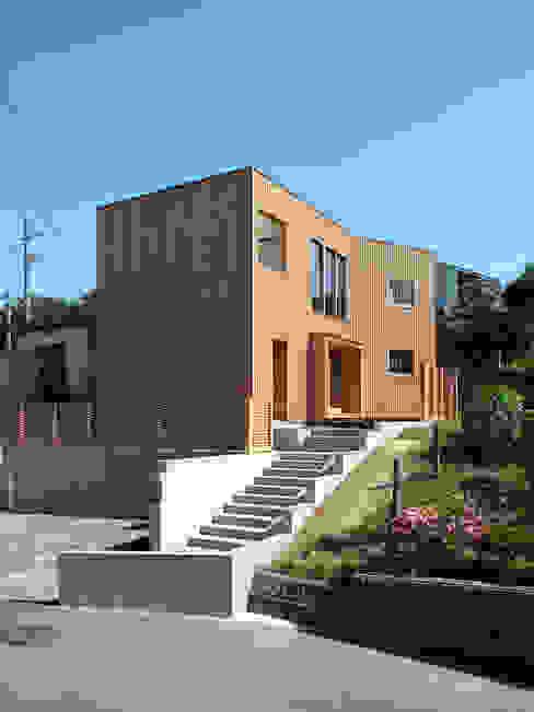 愛宕山の家 外観 おかやま設計室 木造住宅 木 木目調