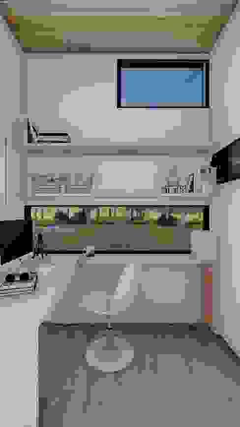 Home Office / Oficina modular / Cuarto de entretención / Oficina prefabricada de Estudio Arquitectura y construccion PR/ Remodelaciones y Diseño de interiores / Santiago, Rancagua y Viña del mar Minimalista
