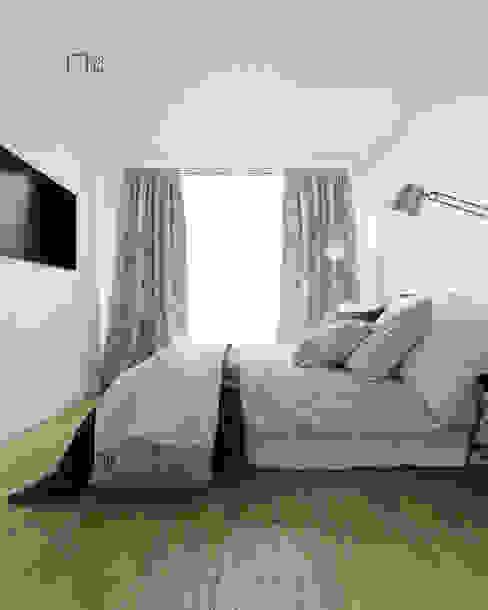 Lio INC. Small bedroom Concrete White
