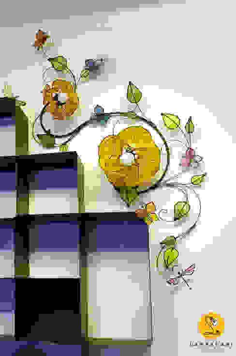 Applique – Ramo con fiori di loto, farfalle e libellule di LampaDani