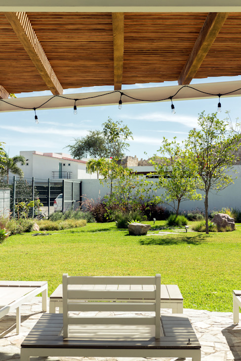 Vista terraza Boceto Arquitectos Paisajistas Jardines modernos