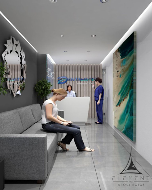 CLÍNICA 03 Estudios y despachos modernos de Element Arquitectos Moderno