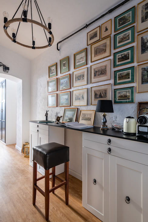 Anastasia Reicher Interior Design & Decoration in Wien Oficinas y tiendas de estilo colonial Multicolor